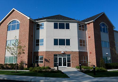 East Hall dormitory exterior