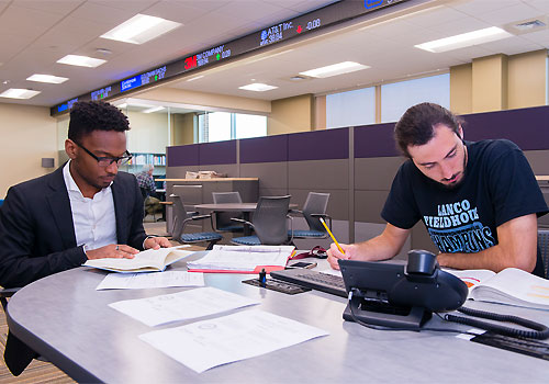 Business Administration Students studying