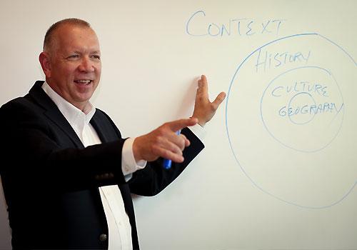 Dr Sam Harbin teaches a bible course