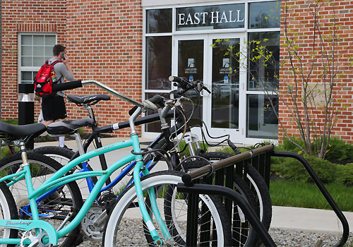 East Hall Dorm Bicycle Rack