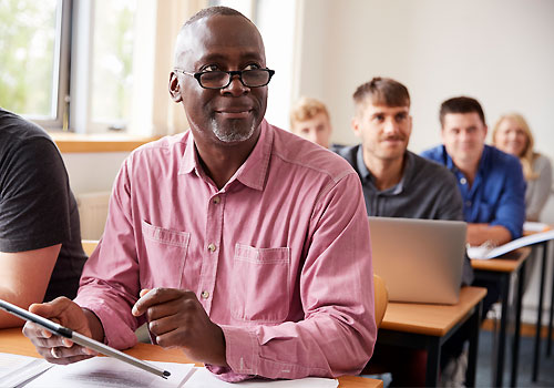 Adult learners in the classroom