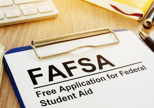 FAFSA Form for financial aid
