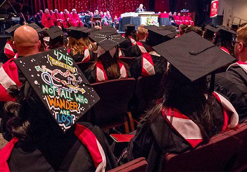 Students attend graduation ceremony