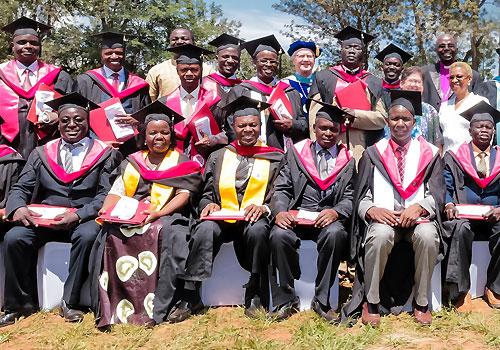 Graduates of the PDN program in Uganda