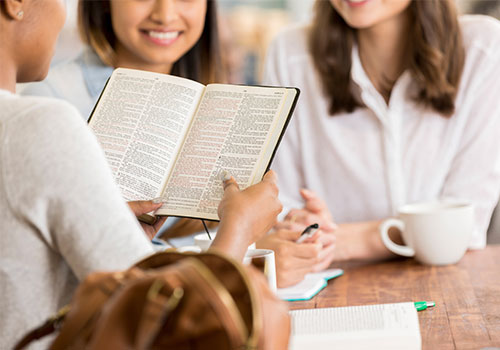 Students study the Bible as the core of LBC programs