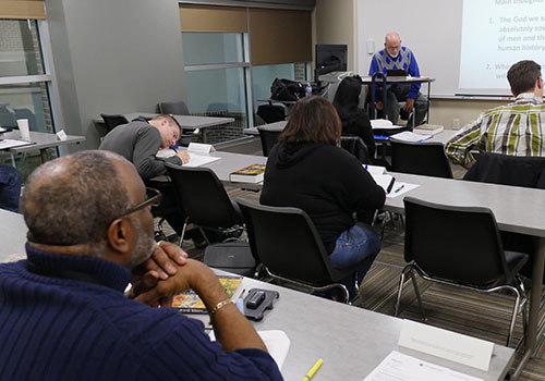 classroom at Lancaster Bible College